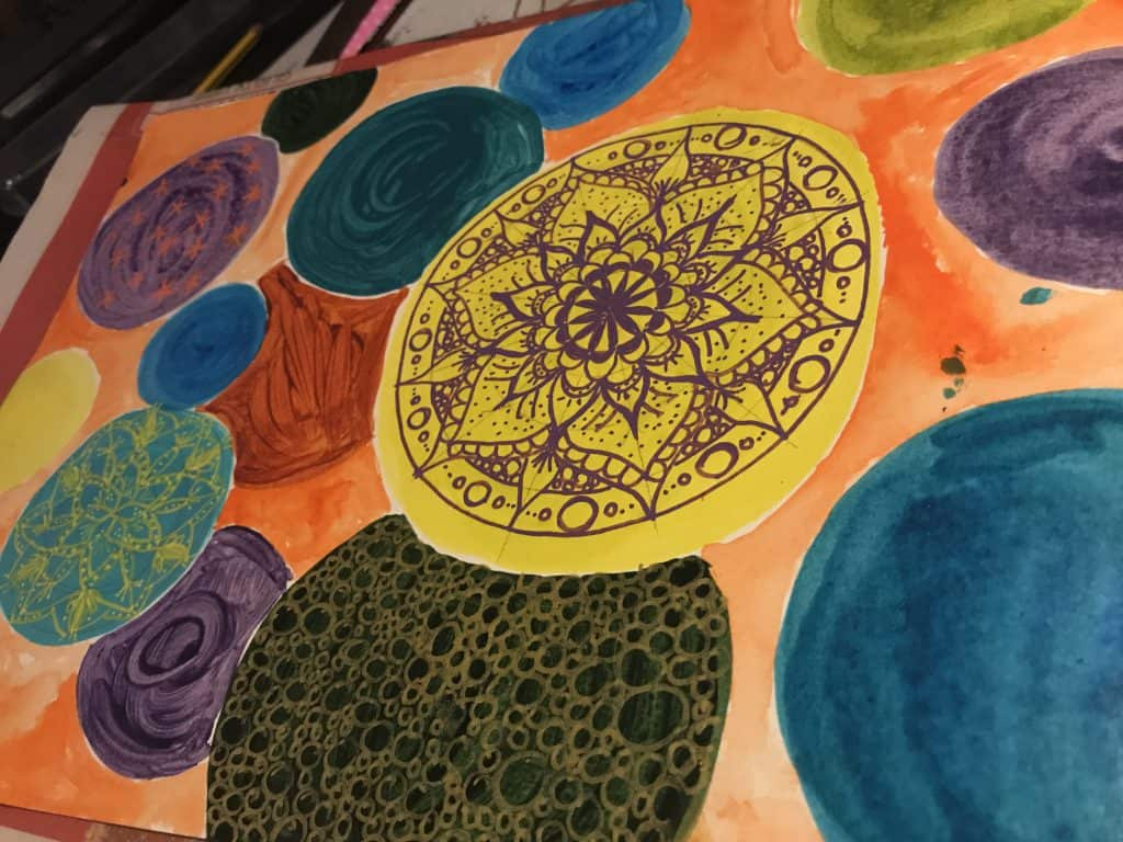 Voll Motivation: Mandala Kreise im Artjournal